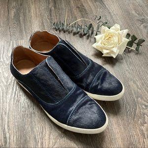 All Black Furman Calf Hair Almond Toe Sneakers 8.5